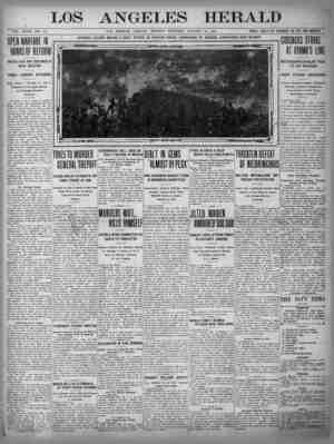 The Los Angeles Herald Gazetesi 16 Ocak 1905 kapağı