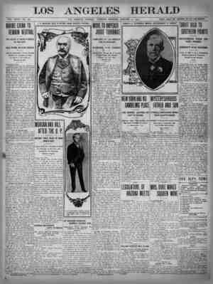 The Los Angeles Herald Gazetesi 17 Ocak 1905 kapağı