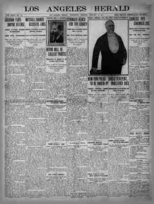 The Los Angeles Herald Gazetesi 18 Ocak 1905 kapağı