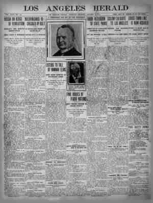 The Los Angeles Herald Gazetesi 19 Ocak 1905 kapağı