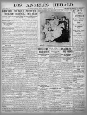 The Los Angeles Herald Gazetesi 20 Ocak 1905 kapağı