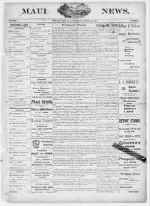 The Maui News Gazetesi 24 Mart 1900 kapağı