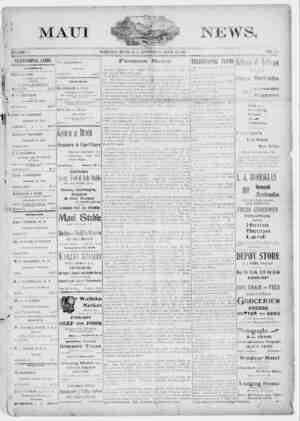 The Maui News Gazetesi 28 Nisan 1900 kapağı