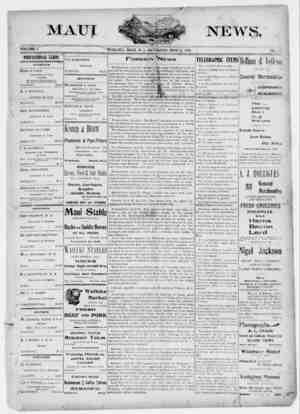 The Maui News Gazetesi 12 Mayıs 1900 kapağı
