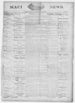 The Maui News Gazetesi 9 Haziran 1900 kapağı