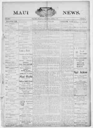 The Maui News Gazetesi 16 Haziran 1900 kapağı