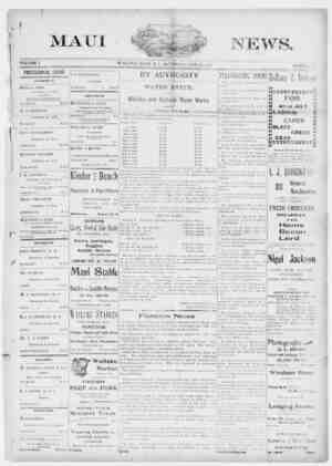 The Maui News Gazetesi 30 Haziran 1900 kapağı