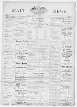 The Maui News Gazetesi 28 Temmuz 1900 kapağı