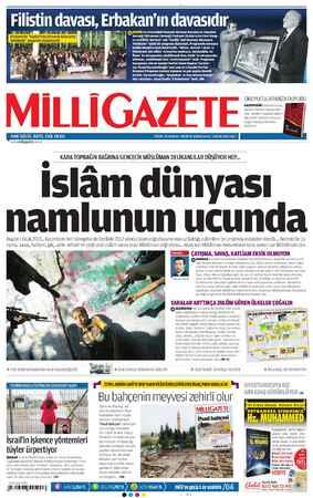 Milli Gazete Gazetesi 1 Ocak 2013 kapağı