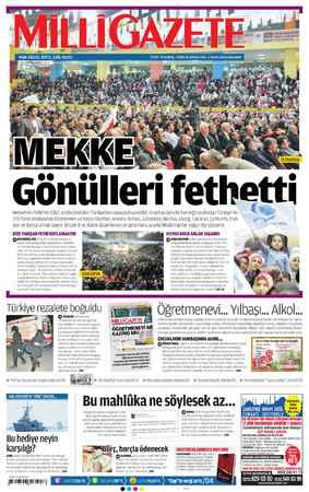 Milli Gazete Gazetesi 2 Ocak 2013 kapağı