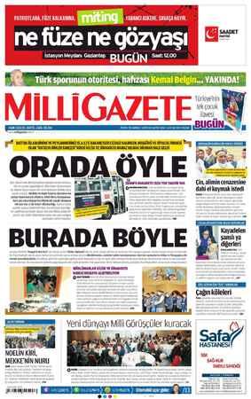 Milli Gazete Gazetesi 6 Ocak 2013 kapağı