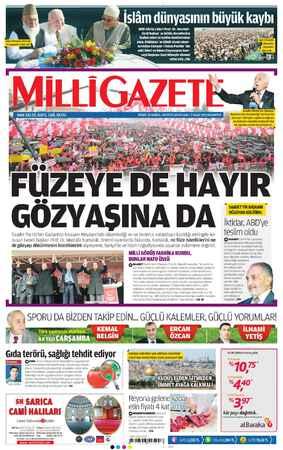 Milli Gazete Gazetesi 7 Ocak 2013 kapağı