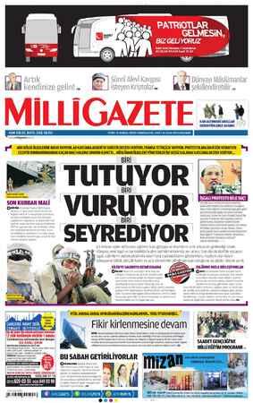 Milli Gazete Gazetesi 16 Ocak 2013 kapağı