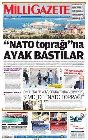 Milli Gazete Gazetesi 20 Ocak 2013 kapağı