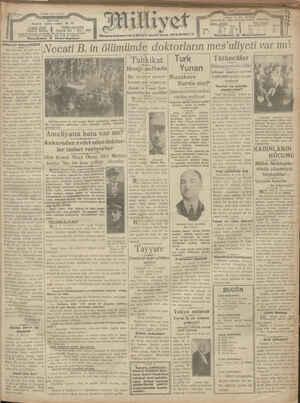 Milliyet Gazetesi 4 Ocak 1929 kapağı