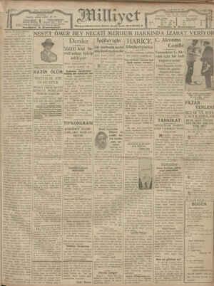 Milliyet Gazetesi 6 Ocak 1929 kapağı