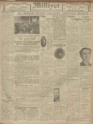 Milliyet Gazetesi 7 Ocak 1929 kapağı