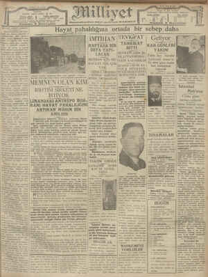 Milliyet Gazetesi 9 Ocak 1929 kapağı