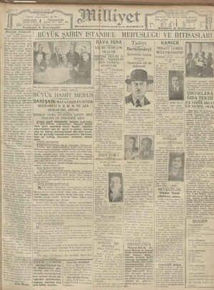 Milliyet Gazetesi 10 Ocak 1929 kapağı