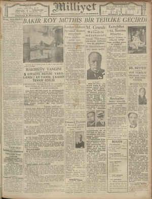 Milliyet Gazetesi 15 Ocak 1929 kapağı