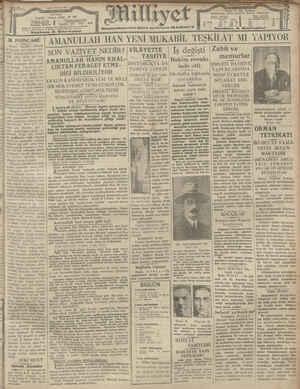 Milliyet Gazetesi 18 Ocak 1929 kapağı