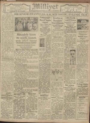 Milliyet Gazetesi 19 Ocak 1929 kapağı