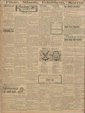 """Asrın umdesi """"Milliyet"""" tir 9 TEMMUZ 1930 İDAREHANE — Ankara caddesi lo: 100 Telgraf adresi: Milliyet, le- anbul. Telefon"""