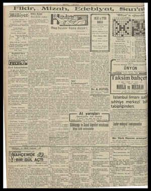"MİLLİYET  ARŞAMBA 5 I-ikir, Tiliyeti sz Başvekilin nutku 4sTin ""Milli 4 ün AĞUSTOS"" 1930 IDAREHANE — Ankara ca Nö: 100..."