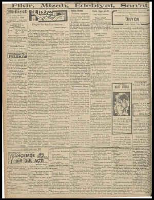 "Fikir, Tümlliyet ımdesi ""Milliyet"" 3 EYLUL 1940 İDAREHANE Ankara caddesi No: 100 Telgraf seresi: Milliyet, İs- tanbul. Bern"