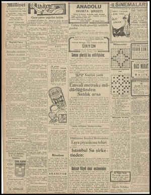 """. Biilliyet Asrın umdesi """"Müliyet"""" tir. 16 TEŞRİNİEVEL 1930 IDAREHANE — Ankara caddesi No: 100 Telgraf adresi: Milliyet, 1s-"""