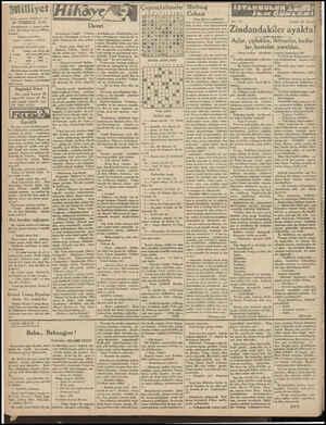 """* şu cevabı verdi: Asrın umdesi """"Milliyet"""" tir. 30 TEMMUZ 1931 İDAREHANE — Ankara cadde si No: 100 Telgraf adresi: Milliyet,"""