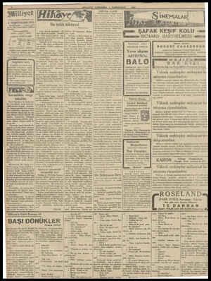 Asrın umdesi «Milliyet» tir. 4 TEŞRİNİSANİ 1931 IDAREHANE — Ankara cadde- si No: 100 Telgraf adresi İstanbul, Telefon...