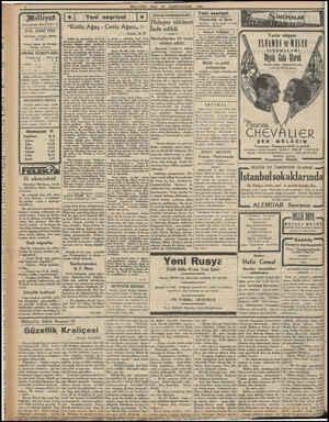 """Asrın umdesi """"MİLLİYET"""" tir. 19K. SANİ 1932 İdarehane: .Ankam Geddesi, 100 No. * Telgrat adresi: Tet, Milliyet Telefon:..."""