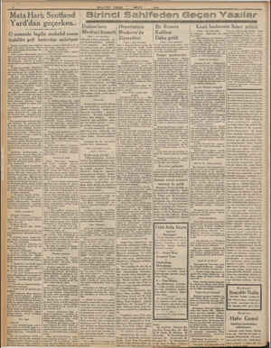 Mata Hari; Scotland : Birinci Sahifeden Geçen Yazılar Yard'dan geçerken: O zamanki İngiliz mukabil c teşkilâtı şefi...