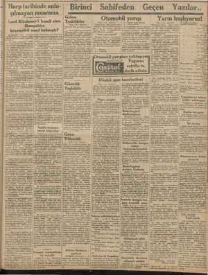2. > 2. - horalinoff bulun. Harp tarihinde anla- şılmayan muamma Lord Kitchener'i hamil olan Hampshire kruvazörü nasıl