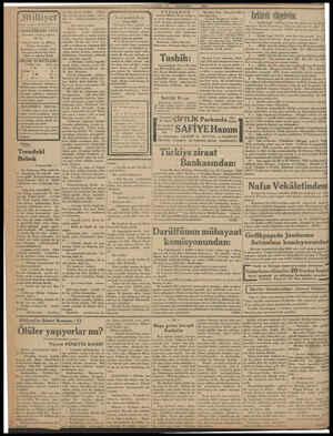 (iliyer AHAZİRAN 1932 İdarehane: Ankara caddesi, 100 No. Telgraf nöresi: İst, Milliyet Telefon Numaraları: Başmuharrir ve...