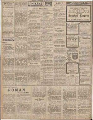Milliyet Asrın umdesi «MİLLİYET» tr 24 T.EVVEL1932 İdarehane: Ankara caddesi, 100 No. Telgraf adresi: Tet Milliyet Telefon