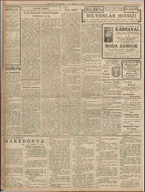 "milliyet y. wmdesi ""MİLLİYET"" tir. ŞUBAT 1933 arebane : Ankara caddesi, 100 No. İçer adresi : İst, Milliyet Telefon..."