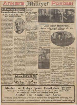FEAR DT Ermenilere inan olur mu? Hariciye Vekilinin fikri . Tür. kiye komünist fırkası Ermenistan mağlüp oldu. Şim- di onunla