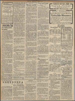 Jiilliyet Asrın amdesi * My 8 MAYIS 1933 İdarehane : Ankara caddesi, 100 No, Telgraf adresi : İst, Milliyet Telefon...