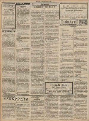 """© """"Çamlıcada havuz"""" etrafı yaldız milliyet 9 MAYIS 1933 Idarahane : Ankara caddesi, 100 Na. Telgraf sdresi : İst, Milliyet"""