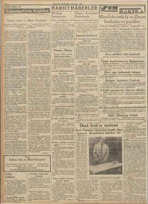 """. 2 MİLLİYET ÇARŞAMBA 13 EYLOL 1933 Tarihi tefrika: 110 yas """"S5.N. 1 Sultan Aziz ve Padişahm ve Hidivin sefahetleri — yahut"""