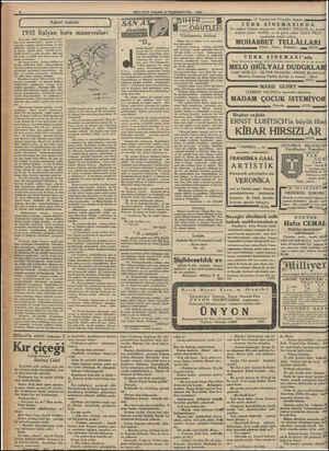 """İ Askeri """"bahisle   1932 İtalyan kara manevraları İtalyada, 1932 Ağustosunda yapı-   lan kara manevraları, geçen yıl Av-"""