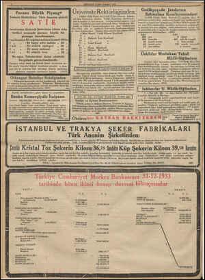 """— MİLLİYET CUM CUMA 2 MART 2 MART, 1934 , , , , Me """"we .İ Gedikpaşada Jandarma Üniversite Rektö rlüğ ünden: Satınalma..."""