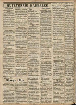MİLLİYET PAZAR 4 MART, 1934. : Orta ted tedrisat Muallimlerin de ders saatleri artırıldı Orta tedrisat müesseselerinin...