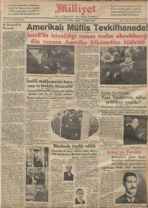 FİYALI 5 KURU, R ŞU, 8Binci sene No. 2924 SAL] 3 NISAN 1934 Tel: ( ruı 2038 Yü Ka İAmerıkalı Müflis * Tevkıfhanede! Bulgaristan Başvekili M. Muşanof, geçen gün Mecliste Hariciye bütçesi- min müzakeresi vesilesile - Bulgaristanın