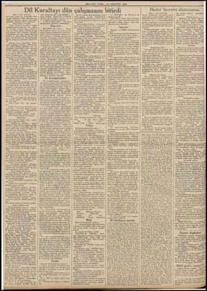 MILLIYEF CUMA ?4* AGUSTOS 1934 'Dil Kurultayı dün çalışmasını bitirdi (Başr 1 inci sahifede) yazılacak eserler için...