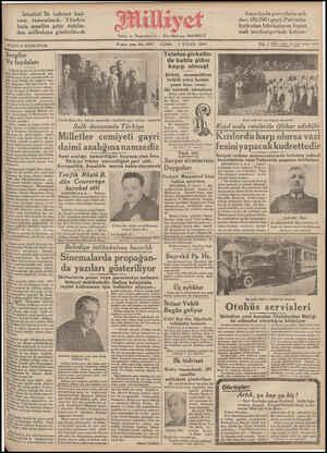 FIATI 5 KURUŞTUR. 9uncu sene No. 3081 CUMA 7 EYLUL 1934 5 6i Ç Ha 2 Sergiler —   Telefon şirketin- Ve faydaları de kablo plânı İş Bankasının on yıl içnide başar-       kay'p_Emuşı I lğı işleri halka göstermek için latasaray lisesi salonlarında aç- Uğı sergi büyük bir rağbete maz- har olmuştur. Her gün büyük bir halk kütlesi sergiyi ziyaret ediyor. Bi ©K behe B Hüsükmer 'aiki tü   ),Şirket, muamelâtıni    tetkik eden komis- ü   yona bazı vesa- RKdiçe iki vermek istemiyor