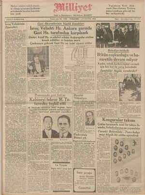 FİATIİ 5 KURUŞİLUR. Isveç Veliahtinin Ziyaretleri İ * VONT TERUR Ş SUU - — USU UN .. VN GNY U ei ge SAÇ AM L ç e N M Kf Gazi Hazretlermm büyük konuk!arı İsveç Veliahti Hz. Ankara garında Gazi Hz. tarafından karşılandı Gustav Adolf Hz. ve aileleri erkânı Ankarapalas oteline İnmmle aet elilner a li a n l