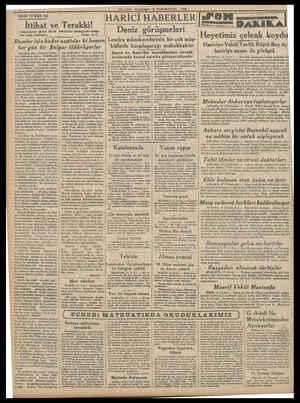 TARİHİ TEFRİKA: (165 İttihat ve İLLİYET PERŞEMBE 18 TEŞRINLEVVEL 1934 HARİCİ HABERLER| Terakki! (BAHAEDDIN ŞAKIR BEYİN...